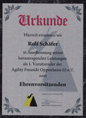 Since 2014: honorary chairman of Agility Freunde Oppenheim 03 eV.